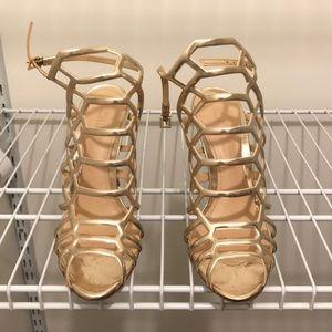Schutz golden heels . Great condition